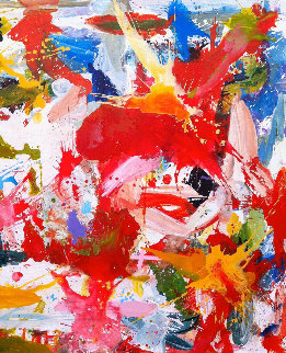 Joyous Experince 2017 74x62 Original Painting - Costel Iarca