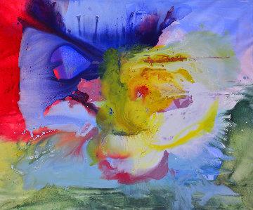 Perfect Timing 2017 62x74 Original Painting - Costel Iarca