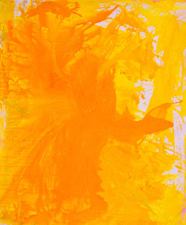 Simple Yellow 2017 74x62 Original Painting by Costel Iarca