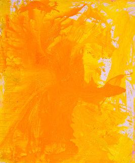 Simple Yellow 2017 74x62 Super Huge Original Painting - Costel Iarca