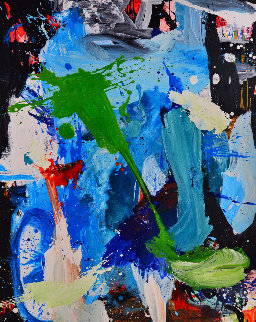 Unfinished Story 2017 62x50 Super Huge Original Painting - Costel Iarca