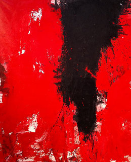 A Fly Buzz  2017 74x62 Huge Original Painting - Costel Iarca