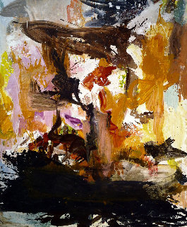 World of Fiction 3-D 2017 74x60 Original Painting - Costel Iarca
