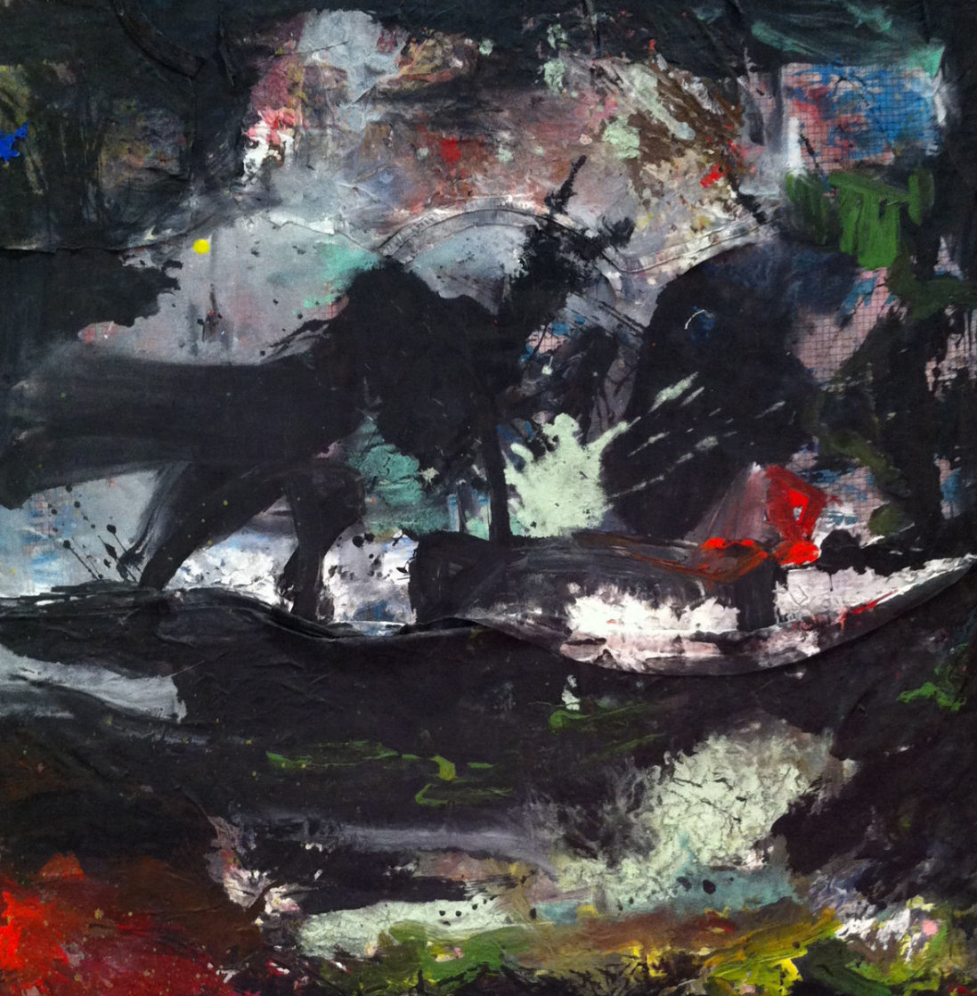 Between the Concepts  2017 32x32 Original Painting by Costel Iarca