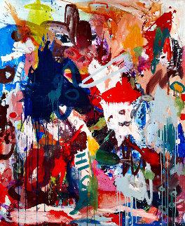 Under the Moon  2017 72x62 Huge Original Painting - Costel Iarca