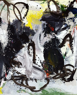 Astonishment 2017 74x62 Huge Original Painting - Costel Iarca