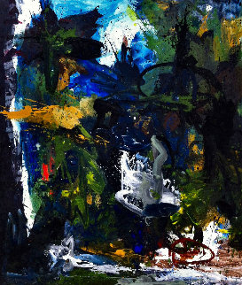 Poem Expressed 2017 74x62 Original Painting by Costel Iarca