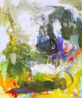 Romantic Imagination 2017 74x62 Huge Original Painting - Costel Iarca