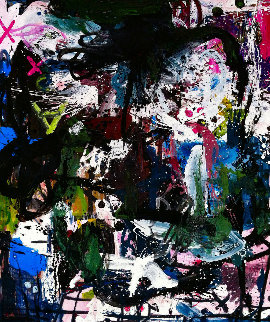 Dialogue 2017 74x62 Original Painting - Costel Iarca