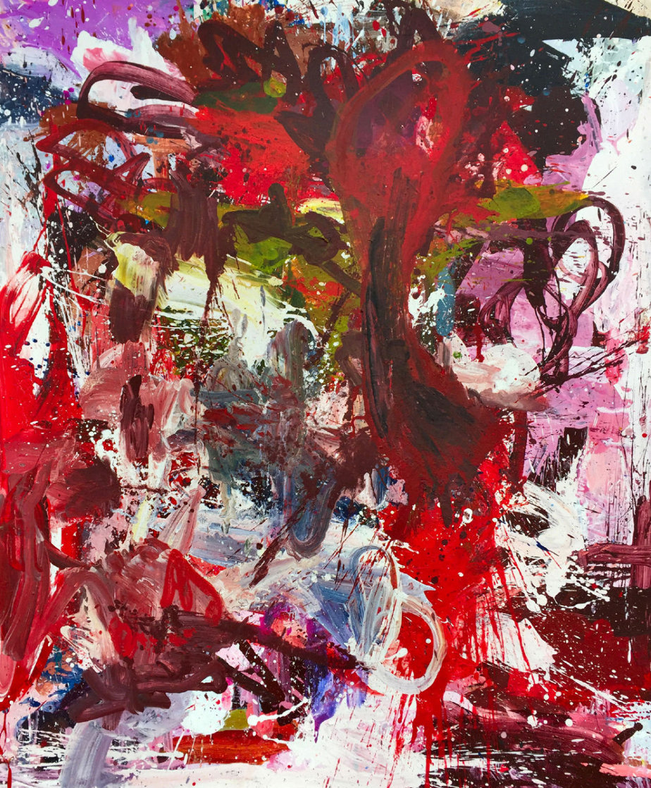 Essence of Fragility 2017 74x62 Huge Original Painting by Costel Iarca