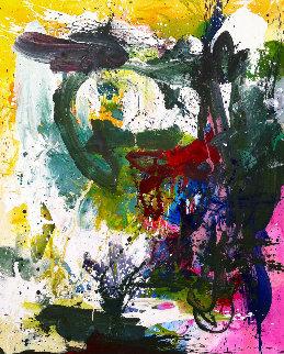 Bright Rainbow 2017 72x60  Huge Original Painting - Costel Iarca