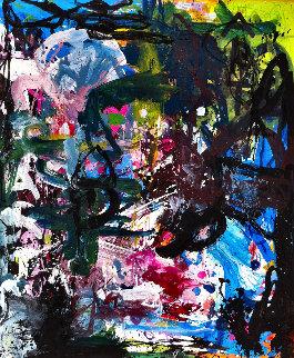 Human Experience  2017 74x62 Huge Original Painting - Costel Iarca