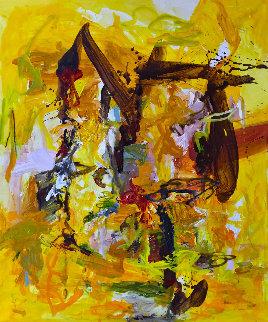Outsider 2017 74x62 Huge Original Painting - Costel Iarca
