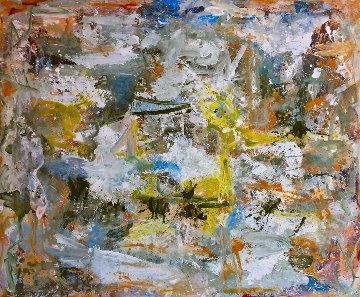 Cosmic Patterns 2017 81x97 Huge Original Painting - Costel Iarca