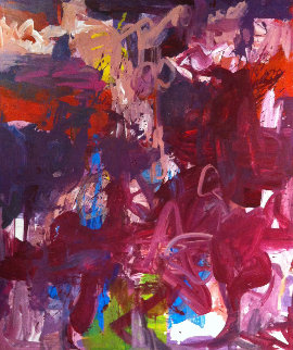 Time And Stage 79x60  Huge Original Painting - Costel Iarca