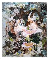 Over Rocks 2017 74x62 Huge Original Painting by Costel Iarca - 1
