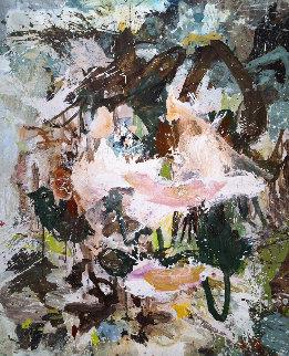Over Rocks 2017 74x62 Super Huge Original Painting - Costel Iarca