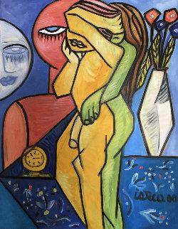 Silver Night 2000  39x30 Original Painting by Costel Iarca