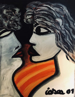 Untitled Painting 2001 26x21 Original Painting by Costel Iarca