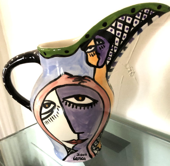 Untitled Ceramic Pitcher 2000 11 in Sculpture by Costel Iarca