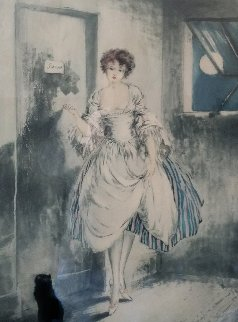 Au Clair De La Lune (By Moonlight) 1923 Limited Edition Print - Louis Icart
