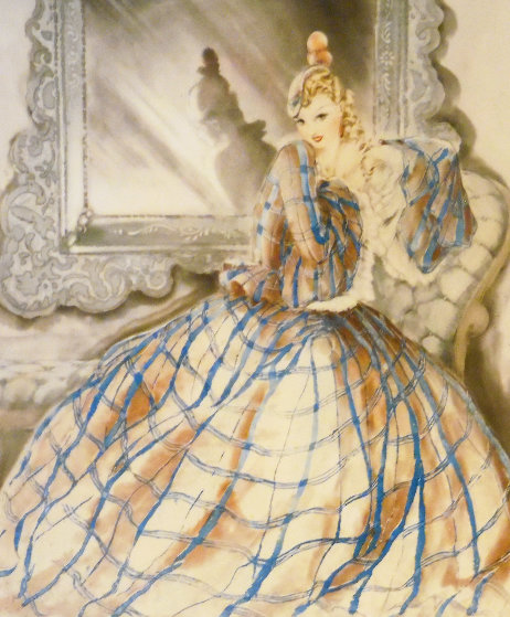 Girl in Crinoline 1937 Limited Edition Print by Louis Icart