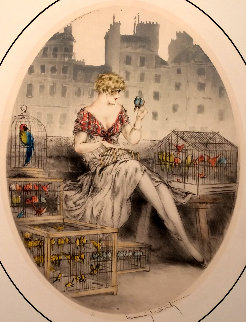 Bird Seller 1929 Limited Edition Print - Louis Icart