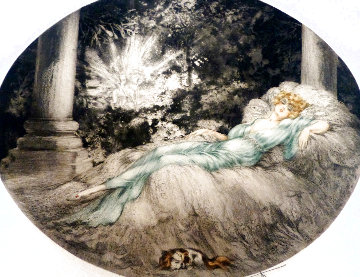 Sleeping Beauty EA 1927 Limited Edition Print - Louis Icart