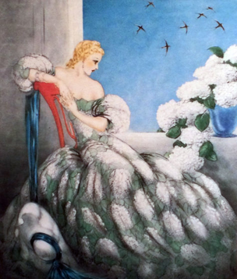 Symphony in Blue 1936 Limited Edition Print by Louis Icart