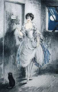 Pierrot By the Moonlight 1927 Limited Edition Print - Louis Icart
