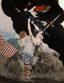 Courage My Legions 1917 36x25 Limited Edition Print - Louis Icart