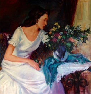 Scent of a Woman 30x30 Original Painting - Sergey Ignatenko