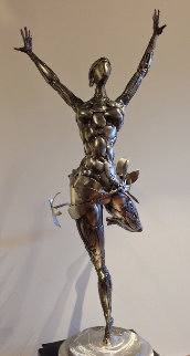 Ballerina No. 2 Stainless Original Steel Sculpture 44 in Sculpture by Boban Ilic