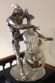 Bassist Stainless Steel Original Sculpture 2015 22 in  Sculpture by Boban Ilic