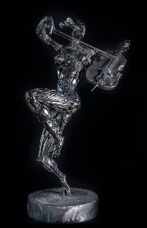 Cellist Stainless Steel Original Sculpture 2014 25 in Sculpture - Boban Ilic
