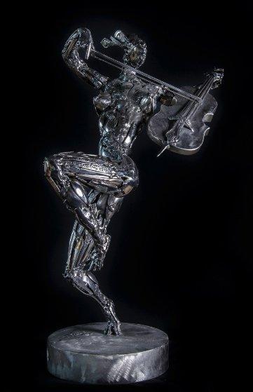 Cellist Stainless Steel Original Sculpture 2014 25 in Sculpture by Boban Ilic