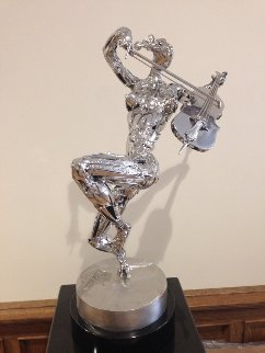 Cellist Stainless Steel Sculpture 2014 25 in Sculpture - Boban Ilic