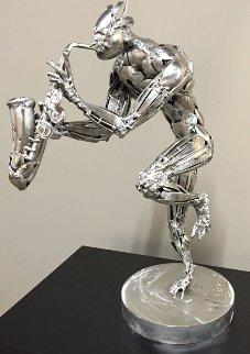 Saxophonist Stainless Steel Sculpture 2015 23 in  Sculpture - Boban Ilic