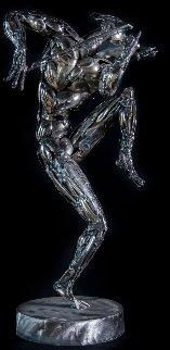 Violinist Stainless Steel Sculpture 2014 27 in Sculpture - Boban Ilic