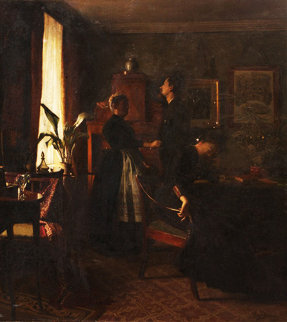Cancelled Engagement 1891 26x22 Original Painting - Peter Ilsted