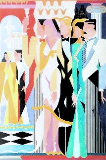 Dreamlike 1989 43x33 Huge Original Painting - Giancarlo Impiglia