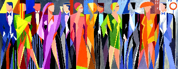 Ineffable Cliche of Fashion 2020 22x52 Original Painting - Giancarlo Impiglia