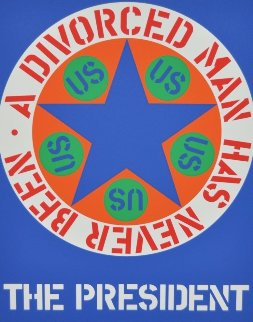 A Divorced Man Has Never Been the President 1997 Limited Edition Print by Robert Indiana