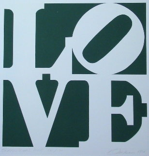 Greenpeace Love 1994 Limited Edition Print - Robert Indiana