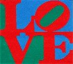Chosen Love Wool Tapestry 1995 72x72 Tapestry - Robert Indiana