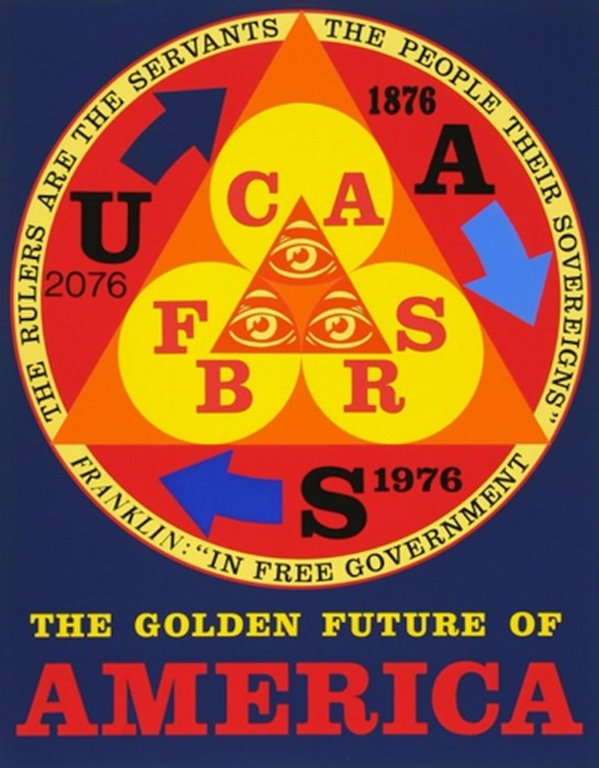 Golden Future of America 1976 Limited Edition Print by Robert Indiana
