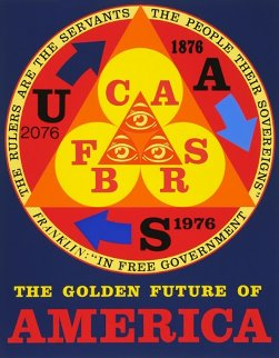Golden Future of America 1976 Limited Edition Print - Robert Indiana