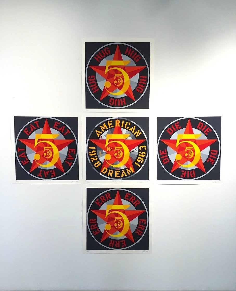 American Dream #5 Suite of 5 1980 Limited Edition Print by Robert Indiana