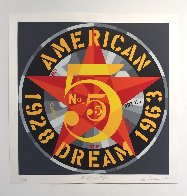 American Dream #5 Suite of 5 1980 Limited Edition Print by Robert Indiana - 7