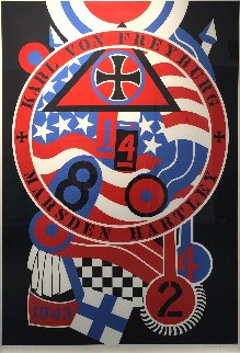 Hartley Elegies Kvf 2 1990 Limited Edition Print - Robert Indiana